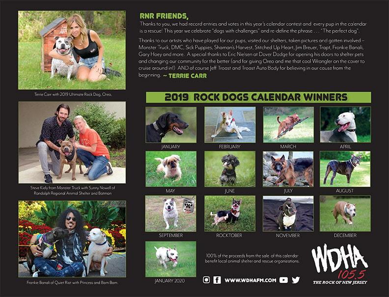 WDHA's Ultimate Rock Dog Calendar