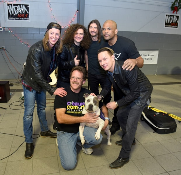 "An amazing day for NJ Animal Rescue as WDHA and Dover Dodge raised thousands of pounds of food and supplies for local Animal Shelters and found many homes for animals in need! Special thanks to Darryl ""DMC"" McDaniels, Stone Horses and Palisades for their support and talents and to our listeners who ROCK THE RESCUE!"