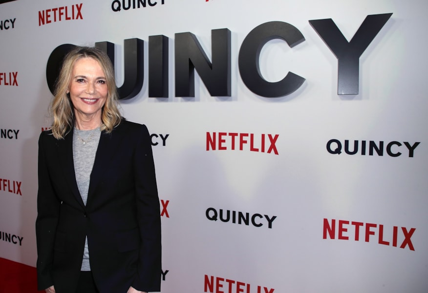 "LOS ANGELES, CA - SEPTEMBER 14:  Peggy Lipton attends the premiere of Netflix's ""Quincy"" at Linwood Dunn Theater on September 14, 2018 in Los Angeles, California.  (Photo by David Livingston/Getty Images)"