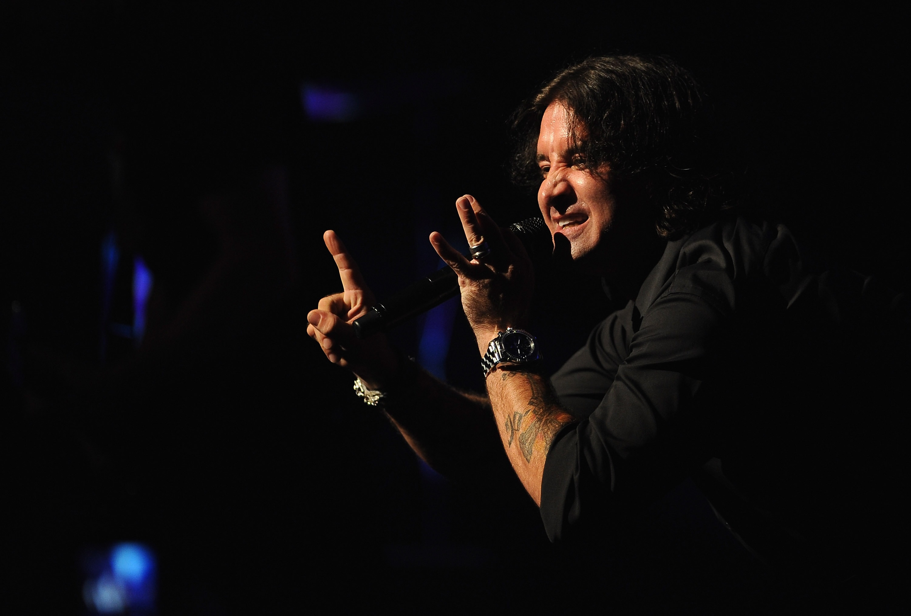NEW YORK, NY - APRIL 20: Creed's lead singer Scott Stapp performs onstage at the Beacon Theatre on April 20, 2012 in New York City.
