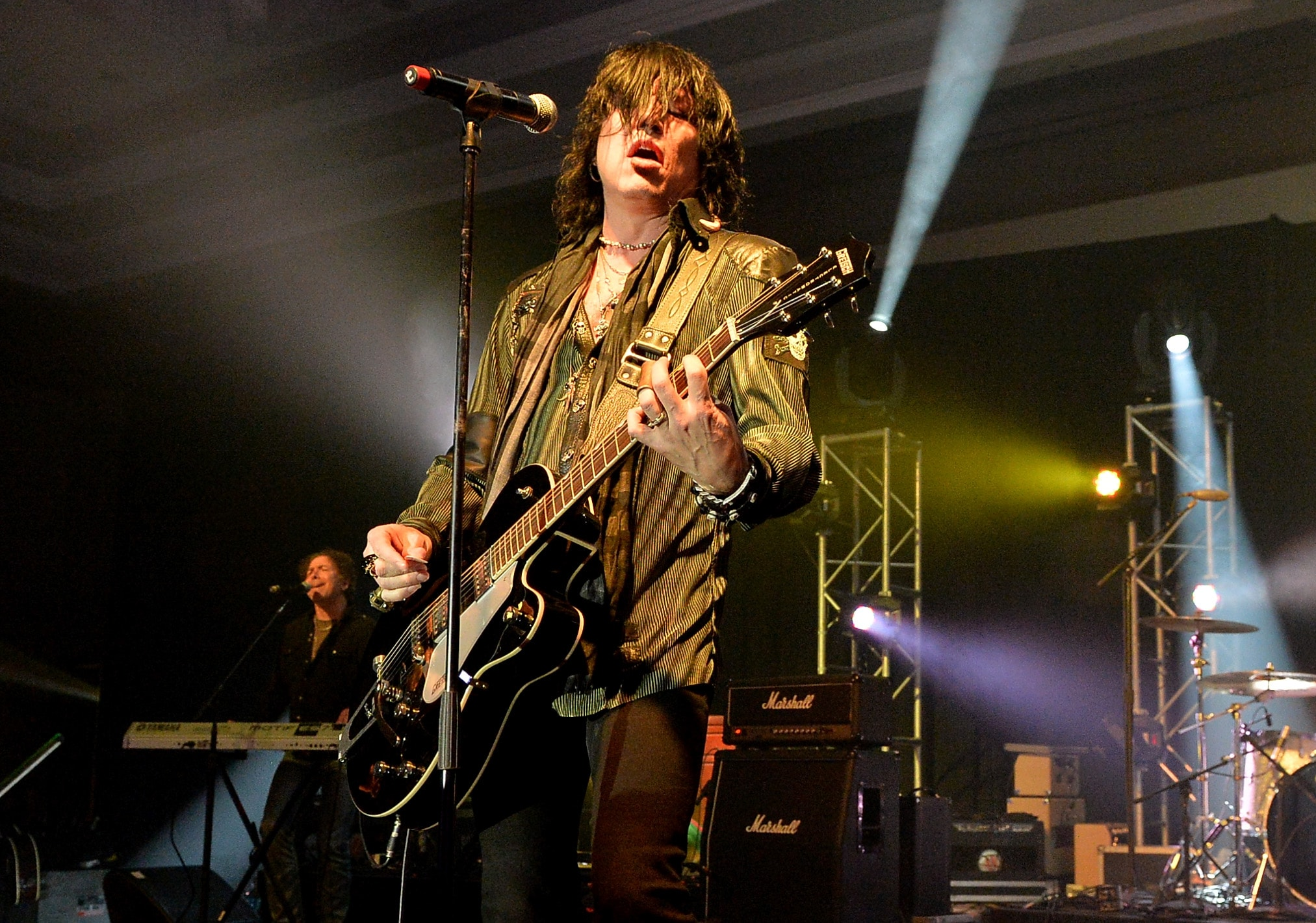 NASHVILLE, TN - OCTOBER 20: Tom Keifer of Cinderella performs at the Agency For Performing Arts party during the IEBA 2013 Conference - Day 1 at the The Omni Hotel on October 20, 2013 in Nashville, Tennessee.
