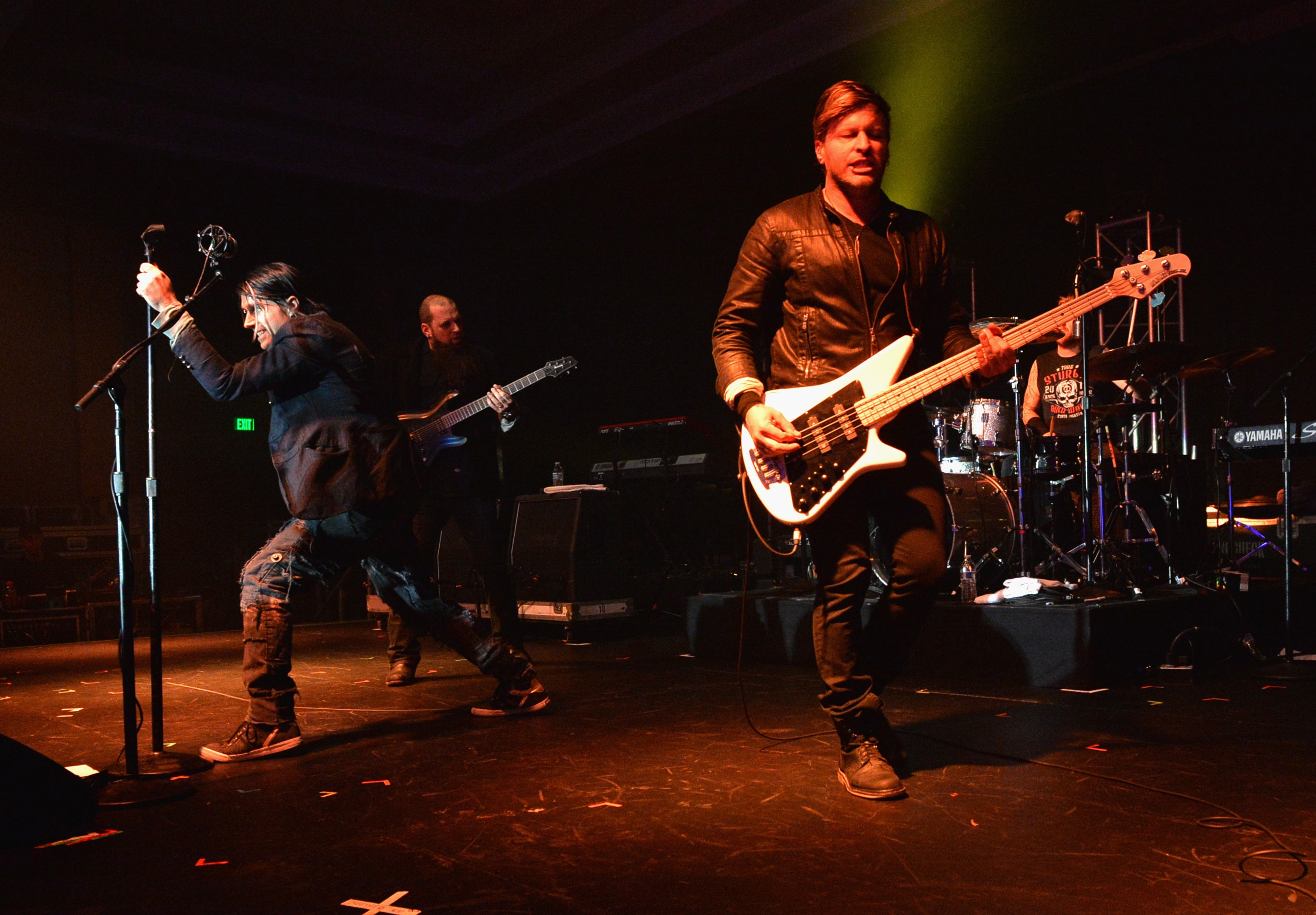 NASHVILLE, TN - OCTOBER 21: Matt Walst, Barry Stock, Neil Sanderson and Brad Walst of Three Days Grace perform at the Agency Group Party during the IEBA 2013 Conference - Day 2 at The Omni Nashville Hotel on October 21, 2013 in Nashville, Tennessee.