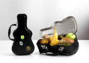 black guitar lunch box